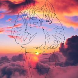 followcookie asiangirl japanese draw sky