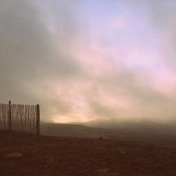 skyline fog clouds cloudsandsky landscape