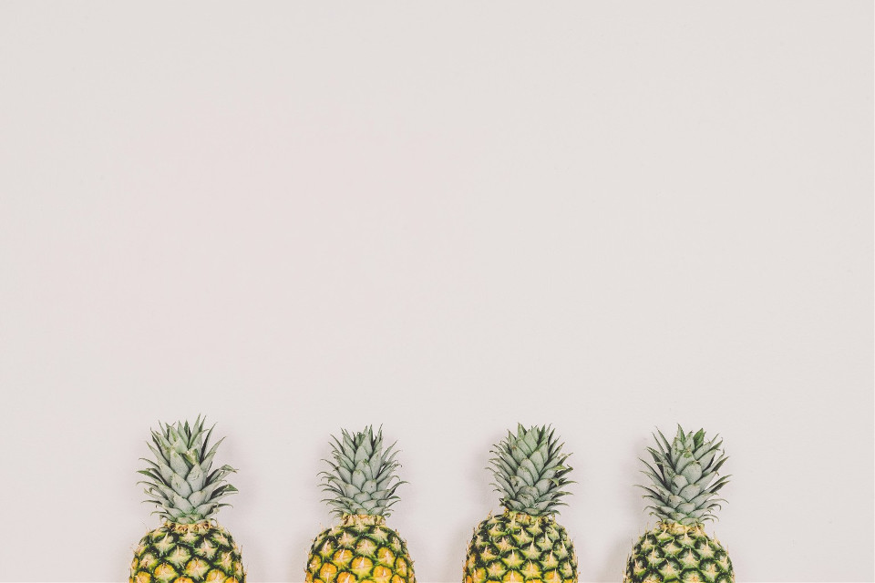 Let your awesome shine right through.  Unsplash (Public Domain)  #FreeToEdit #minimal #pineapple #pineapples #fresh #color #background