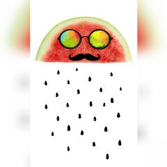 remixed watermelon red water waterdrops