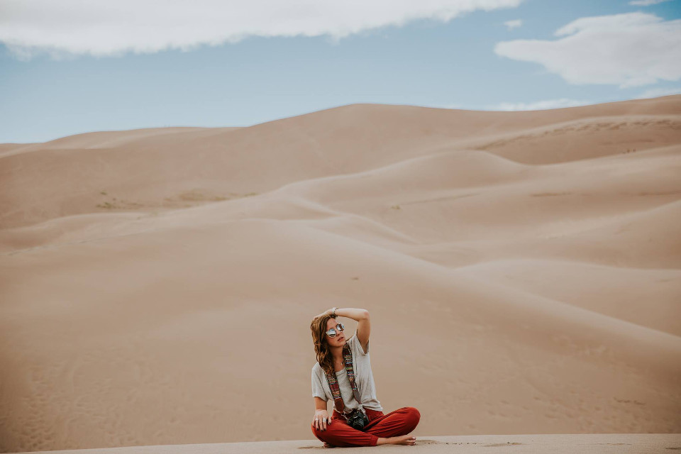 There is a little awesome in everything. Inspire us with your take on this image.  Unsplash (Public Domain)   #FreeToEdit #nature #human #view #scene #girl  #desert #portrait #shot #stylish