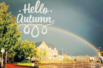 rainbow rain autumn fall coulours