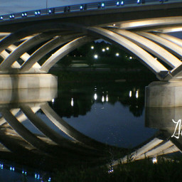 architecture bridge reflection water