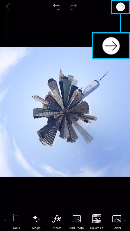 Tiny Planet Photo Effect with PicsArt Photo Editor