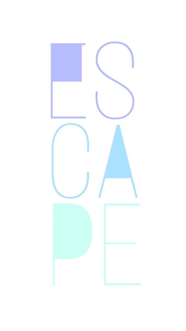 #escape #typography #white #background #FreeToEdit
