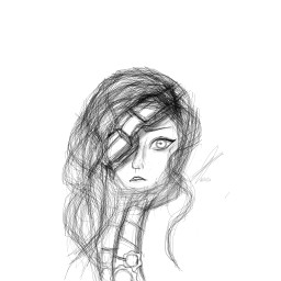 steampunk drawing girl black freehanddrawing