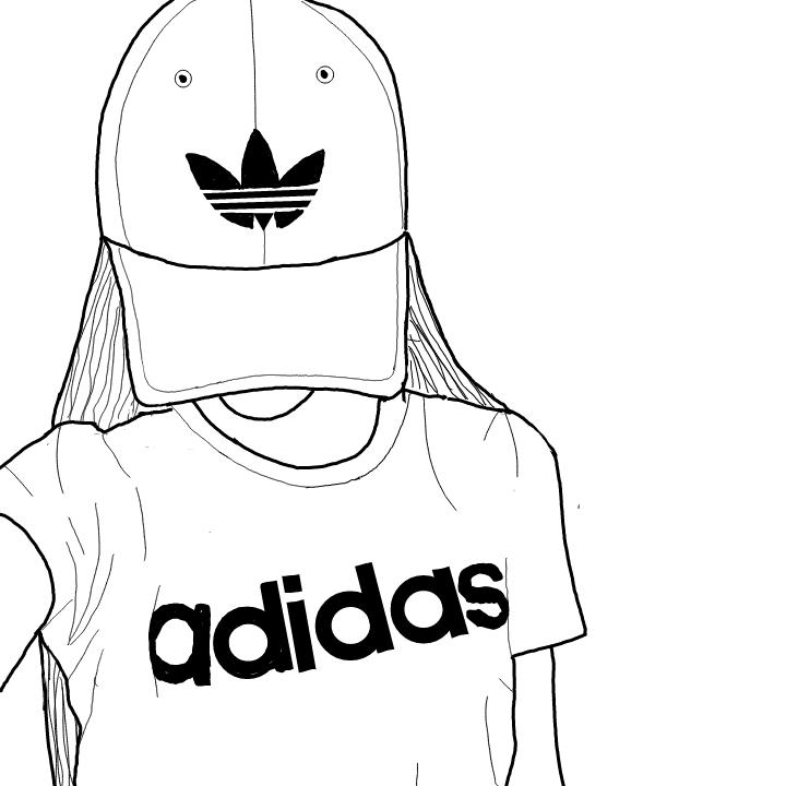 tumblrgirl drawing adidas nosponsor
