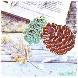 freetoedit remix pinecones leaves leaveschanging